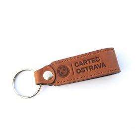 Kožené a gumové klíčenky s logem - referencia - Cartec Ostrava