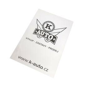 Ochranné papierové koberčeky pre auto servisy - K-auto