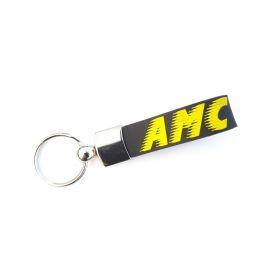 Kožené a gumové klíčenky s logem - referencia - AMC Trans