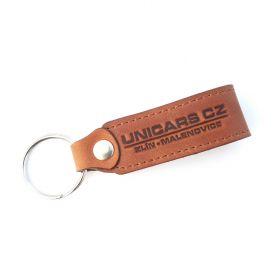 Kožené a gumové klíčenky s logem - referencia - Unicars