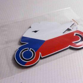 3D samolepky na auto - ČR Moto