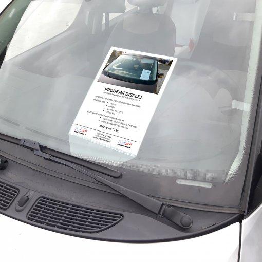 Predajný displej A4 pre autobazáre