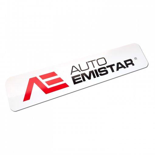 Reklamná tabuľka s logom na miesto ŠPZ Auto Emistar