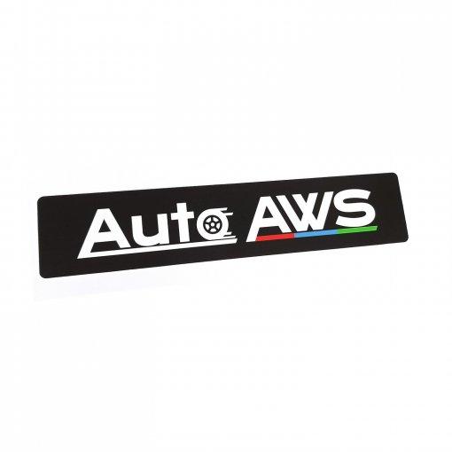 Reklamná tabuľka s logom na miesto ŠPZ Auto AWS