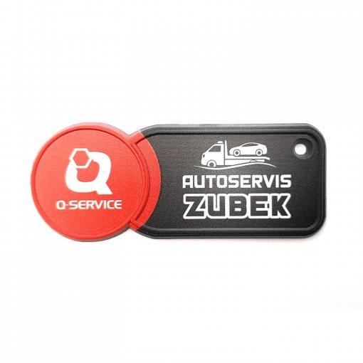 Prívesok s koncovkou do nákupného vozíka Autoservis ZUBEK